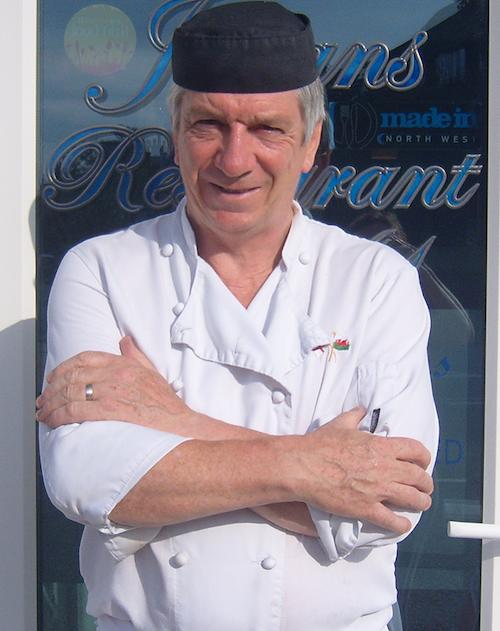 Takeaway menu at Julian's Restaurant in Hoylake, Wirral