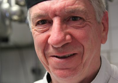 Julian Davies in the kitchen at Julian's Restaurant Hoylake Wirral